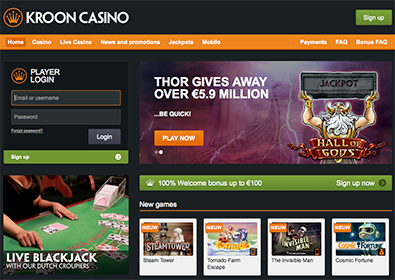 kroon-casino-homepage